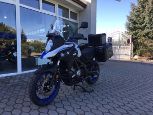 SUZUKI DL650A XT V-STROM BIELY ADVENTURE KIT